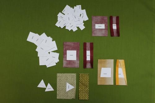 fabric pieces